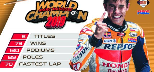 Marquez pots the #8ball – Marc Marquez crowned 2019 MotoGP World Champion