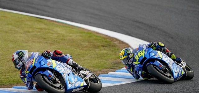 Alex Rins and Joan Mir take seventh and eighth in Japan